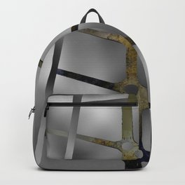 Rusted Iron With Stainless Steel Backpack