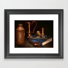 Still life with pipe Framed Art Print
