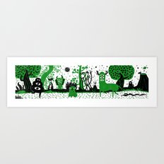 Somwhere Art Print