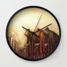 """The Golden Key"" John Bauer Watercolor Wall Clock"
