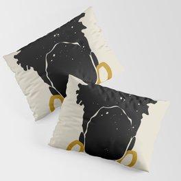 Black Hair No. 14 Pillow Sham