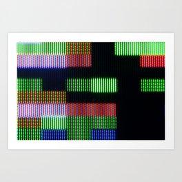Pixel RGB abstract #1 Art Print