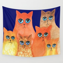 Annapolis Whimsical Cats Wall Tapestry