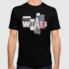 What? X-LARGE Black Mens Fitted Tee