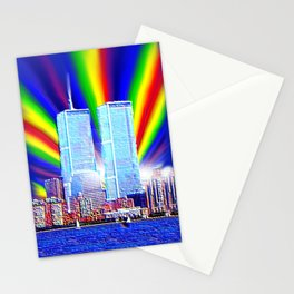 Twin towers never forgotten Stationery Cards
