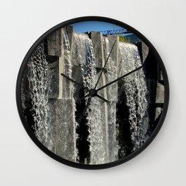 The Inner City Waterfall Wall Clock