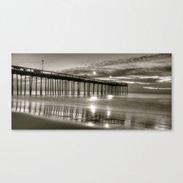 Night Skys at OC Pier Canvas Print