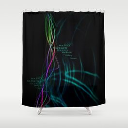 Matrix Energy Flow (Layout by ACCI) Shower Curtain