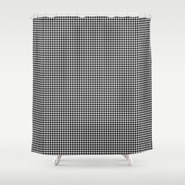 Classic Vintage Black and White Houndstooth Pattern Shower Curtain