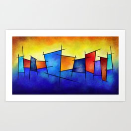Esseniumos V1 - square abstract Art Print