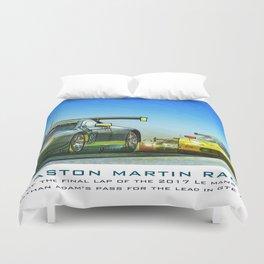Winning pass, #97 Aston Martin GTE Duvet Cover