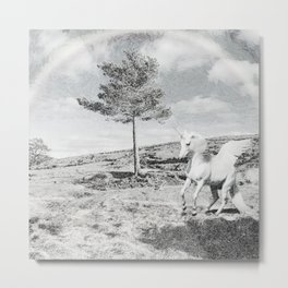 Northern Unicorn Metal Print
