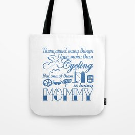 Cycling Mommy Tote Bag
