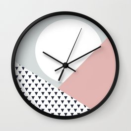 Sunset in Vintage Pink Wall Clock