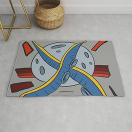 The octopus attack Rug