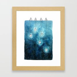 Fishing for Stars Framed Art Print