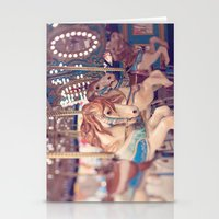 carousel Stationery Cards featuring Carousel by Laura Ruth