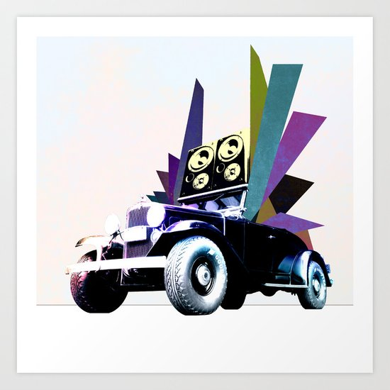 Fabmobile B Art Print