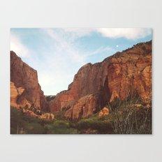 Full Moon Rising Over Kolob Canyons, Utah Canvas Print