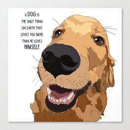 Golden Retriever Love Canvas Print