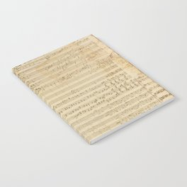 Classical music notations Notebook
