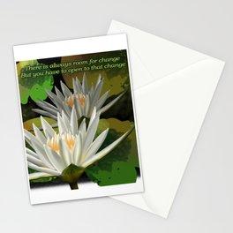 Yoga Cute Lotus Flower Graphic Design Artwork Stationery Cards