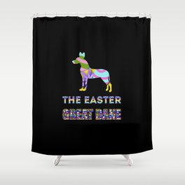 Great Dane gifts   Easter gifts   Easter decorations   Easter Bunny   Spring decor Shower Curtain