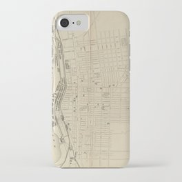 Vintage Map of Manchester NH (1872) iPhone Case