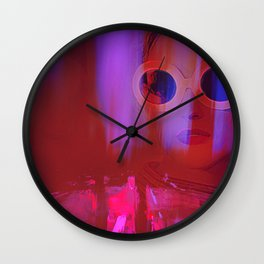 Electric City Girl Wall Clock