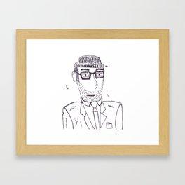 Homeless Mitch Framed Art Print
