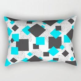 Squares & Blues Shapes Rectangular Pillow