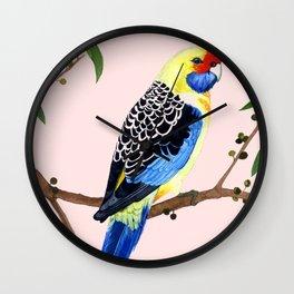 YELLOW ROSELLA Wall Clock
