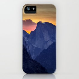Half Dome Sunrise ~ Yosemite National Park iPhone Case