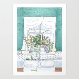 Kitchen Window Art Print