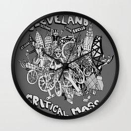 Cleveland Critical Mass Poster Wall Clock