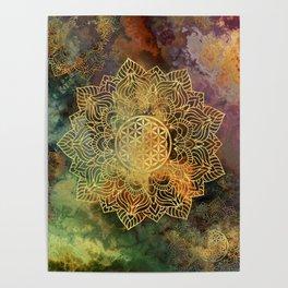 Flower Of Life Batik Poster