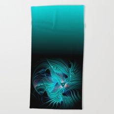window curtain - fractal elegance -1- Beach Towel