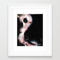 bianca green Framed Art Prints featuring BIANCA by joyrosebruck