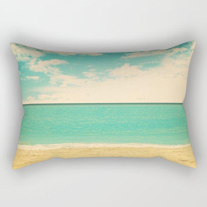 Retro Beach Rectangular Pillow