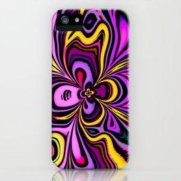 Abstract Iris Flower Design iPhone Case