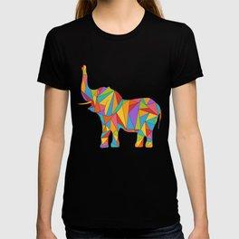 Big, bright, and colorful elephant - polychromatic animal T-shirt