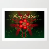merry christmas Art Prints featuring Merry Christmas by Roger Wedegis