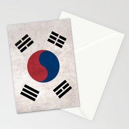 South Korea Flag (Vintage / Distressed) Stationery Cards