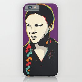 Greta Thunberg Pop Art Quote Portrait iPhone Case