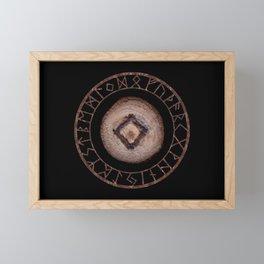 Ingwaz Elder Futhark Rune Male fertility, gestation, internal growth. Common virtues, common sense Framed Mini Art Print