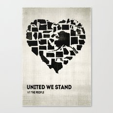 United We Stand - Black & White Canvas Print