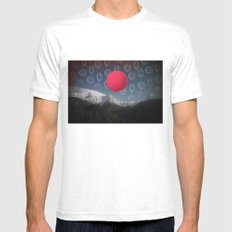 Space Japan White MEDIUM Mens Fitted Tee