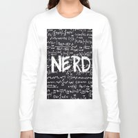 nerd Long Sleeve T-shirts featuring Nerd by ALLY COXON