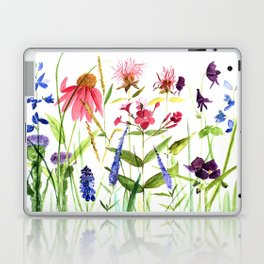 Botanical Colorful Flower Wildflower Watercolor Illustration Laptop & iPad Skin
