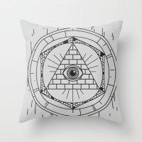 illuminati Throw Pillows featuring Illuminati by Joao Paulo Cruz